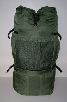 Front view of the finished pack.