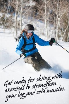 Exercise Tips for Getting Fit for Ski Season