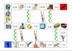 Snakes and Ladders daily routine game