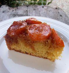 Upside down apricot caramel cake / torta rovesciata di albicocche caramellate