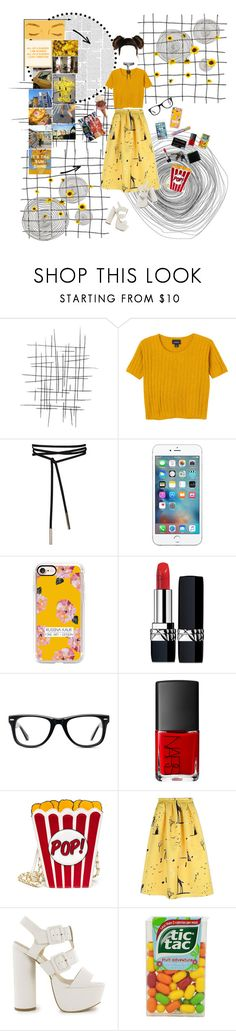 """""""Gemini:The 21st Century"""" by thisworldistoobeautiful1139 ❤ liked on Polyvore featuring Monki, Casetify, Christian Dior, Muse, NARS Cosmetics, Rochas and Nly Shoes"""