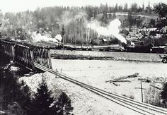 Princeton, KVR Railway and Similkameen River in 1915