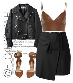 """• I was tagged by @idcmyaa and @gangster-in-balmain"" by fuckedchanel ❤ liked on Polyvore featuring Acne Studios, Michael Kors and Kenzo"