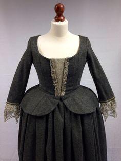 Letitia MacKenzie's gray dress. | Costume Designer TERRY DRESBACH | Outlander on Starz