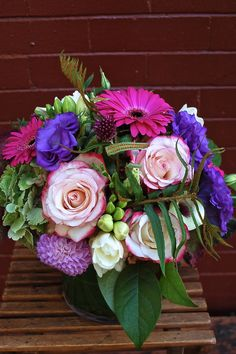 Jewel Toned Wedding Centrepiece
