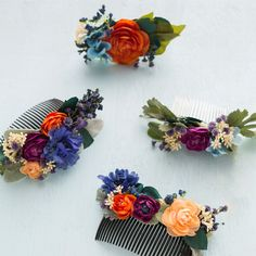 DIY Floral Hair Comb! The Floral Hair Comb Is Winters Flower Crown!