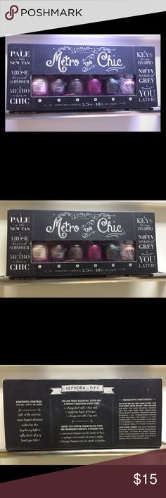 OPI travel nail polish set - metro too chic Sephora by OPI Metro Too Chic nail polish travel/ sampler set! Brand new and never used. Colors are super pretty! OPI Other