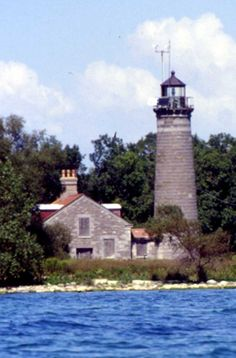 Galloo Island Light - Eastern end of Lake Ontario at SW end of island / 6 mi out from Sacket's Harbor, NY / Built 1867