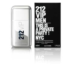212 Vip Men - Carolina Herrera *Top notes: The elitist VIP fruit for party Kings - Caviar lime, Frozen mint, Black pepper; *Middle notes: The VIP cocktail which keeps the night fresh - Chilled vodka, Hot ginger, Slice of apple; *Bottom notes: An unique signature virile and sensual - King wood, Salty amber, Tonka beans.