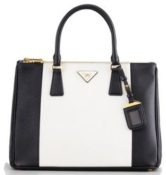 bc023795411 Prada Tote in Black   White Prada Tote Bag