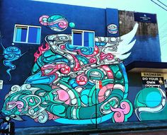 #streetart #sydneystreetart #graffiti #sydneygraffiti #wall #wallart #sydneywallart #blue #pink #green #white #art #Newtown #camperdown #enmore #urban #iphone6 #innerwest #innerwestisbest #innerwestsydney #enmore #erskineville #streetartsydney #sydney by innerwest4lyf