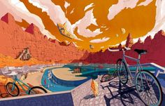 Cycling-themed Illustrations by Shan Jiang (1)