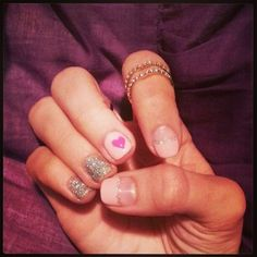 my valentine's day nails :) gel nail art from Angel's Nail LA