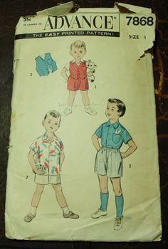 Advance 7868 1950s 50s Boxer Shorts Vest by EleanorMeriwether