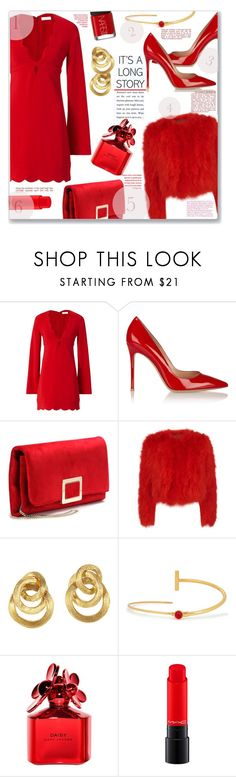 """It's a Long Story"" by jckallan ❤ liked on Polyvore featuring A.L.C., Gianvito Rossi, Roger Vivier, Alexander McQueen, Marco Bicego, Paula Mendoza, Marc Jacobs, MAC Cosmetics, NARS Cosmetics and red"