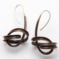 Artners Gallery - Spiral Bronze Dangle Earrings, $480.00 (http://www.artnersgallery.com/spiral-bronze-dangle-earrings/)