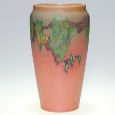 ~Rookwood~Artist: Sallie Coyne~Circa 1925~Floral Branch-Matte Glazed Vase~ Vintage Pottery, Pottery Art, Cincinnati Art, Rookwood Pottery, Urn, American Art, Art Pieces, Arts And Crafts, Ceramics