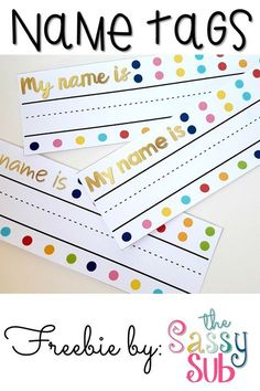 Printable Desk Name Tags Fall Winter Spring Summer