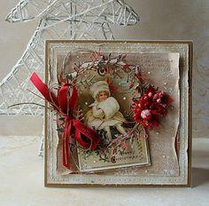 Riddersholm Design: Christmas Cards Source by dokunus Christmas Paper Crafts, Christmas Cards To Make, Noel Christmas, Vintage Christmas Cards, Vintage Cards, Holiday Cards, Christmas Mantles, Vintage Ornaments, Vintage Santas