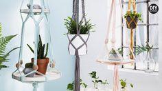 Tillåt oss att inspirera dig i ditt skapande. Macrame Hanging Planter, Macrame Plant Holder, Macrame Plant Hangers, Diy Hanging, Plant Holders, Hanging Planters, Rope Plant Hanger, Cool Diy Projects, Plant Decor