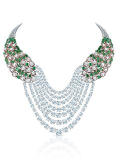 Diamonds in 18K white gold necklace, Hazoorilal by Sandeep Narang for...
