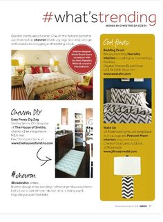 What's Trending: Chevron in the Sep/Oct 2011 issue of Dabble Magazine