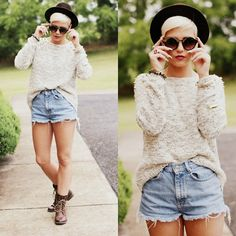 Forever 21 Sweater, Touch Zero Gravity Sunglasses, H Boots