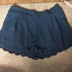 Navy Blue shorts Navy blue elastic shorts Shorts