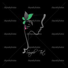 Perfil de una mujer perfecto - Ilustración de stock: 17130567