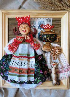 Купить или заказать панно для кухни Чаевница в интернет магазине на Ярмарке Мастеров. С доставкой по России и СНГ. Материалы: -соленое тесто, текстиль, бумага,…. Размер: 20х28