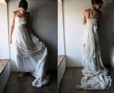 Wedding dress Boho wedding dress Wedding gown Hippie by larimeloom