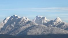 Picture of Golden Ears Mountains as seen from Maple Ridge British Columbia. The Golden Ears are part of the Coastal Range of Mountains. Photo take by Roger Craik Maple Ridge, BC State Of Oregon, Canada, Places Of Interest, Pacific Northwest, How Beautiful, Dice, British Columbia, The Locals, Ears
