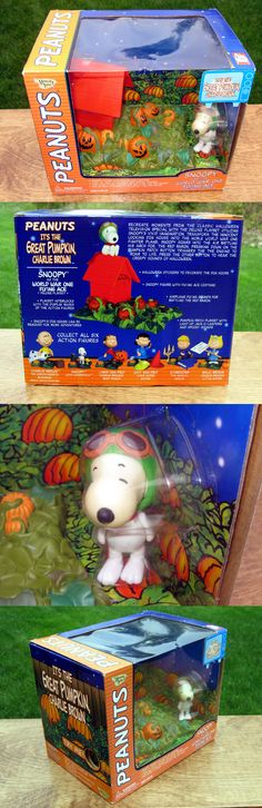 Peanuts Gang 773: Peanuts Great Pumpkin 2002 Snoopy Ww1 Flying Ace Deluxe Playset Rare -> BUY IT NOW ONLY: $31.77 on eBay!
