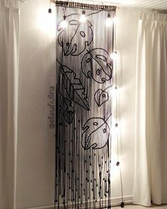 233 Likes, 19 Kommentare - Macrame . Drop Cloth Curtains, Boho Curtains, Macrame Curtain, Beaded Curtains, Hanging Curtains, Sewing Stitches, Hand Embroidery Stitches, Hanging Centerpiece, Macrame Chairs