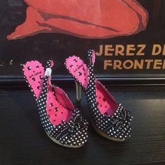 """Polka dot heels NWOT or box super cute and sexy black and white polka dot open toe high heels. 5"""" heel Not Rated Shoes Heels"""