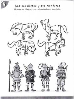 Knights and horses George & Dragon, Castle Project, Magic Treehouse, Dragon Knight, Château Fort, History For Kids, Classroom Projects, Medieval Times, Saint George
