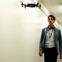 SkyCall quadcopter by  MIT Senseable City Lab. Researchers at Massachusetts Institute of Technology have built a flying robot that can guide people around complex urban environments or aid search-and-rescue missions, in an attempt to show that drones can perform useful tasks as well as sinister ones
