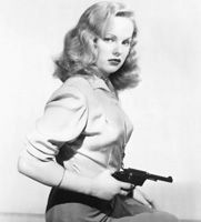 Peggy Cummins: The most important cinema work of her career might easily be Joseph H. Lewis' berserk film noir classic Gun Crazy (1950). It is often considered one of the greatest 'B' movies ever made and an essential film noir. It was a 'Bonnie and Clyde'-like drama involving two desperado fugitives who emotionally spark desirous larger-than-life exploits in each other... with fatal consequences. Her film career ended in 1961and she now lives in London.