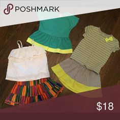 Summer bundle Interchangeable skirt outfits. Built in bloomers and shorts. Various brand names. All like new. Matching Sets