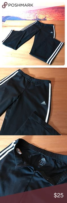 adidas athletic pants these classic black adidas pants are in good used condition they