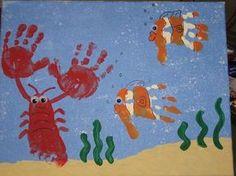 Lavoretti con la digitopittura - Animali del mare