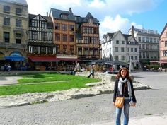 Rouen, France.  Beautiful old tudor houses, tons of history, deathplace of Joan of Arc. Worth seeing