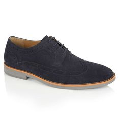 7f1cd053f2409 Silver Street London Lombard Royal Blue Suede Brogue Shoes Blue Suede,  Suede Leather, Brogues
