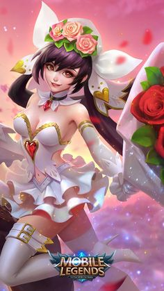 Wallpaper Mobile Legends Layla Cannon and Roses Skin Bruno Mobile Legends, Miya Mobile Legends, 480x800 Wallpaper, Free Iphone Wallpaper, Iphone Wallpapers, Drink Bar, Echo Park, Mobiles, Moba Legends