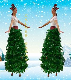 Christmas Stilts to Hire from Christmas Bells to Santa Elf stilts - UK Christmas Events, Christmas Bells, Christmas Themes, Stilt Costume, Father Xmas, Dancing Santa, Xmas Lights, Carnival Costumes, Christmas Costumes