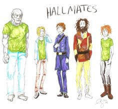 Magnus Chase and the gods of Asgard: Hallmates by Akki except TJ's black....