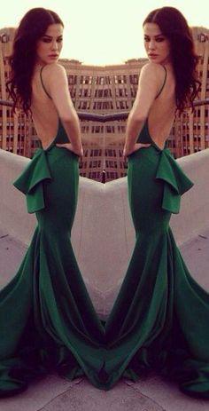 Estelles Prom Dresses Enchanting Low Back Mermaid Prom Long Dresses Sexy Double Straps Women Green Prom Gown Vestidos Longos 2015 Dresses From Adminonline, $86.91  Dhgate.Com