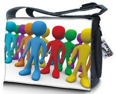 """17"""" Zoll Messenger Bag, Laptoptasche, Notebooktasche mit Tragegurt, Schutzhülle für Laptop. Verschiedene Designs und Größen erhältlich! Ektor http://www.amazon.de/dp/B00C25Z902/ref=cm_sw_r_pi_dp_GQU.ub0QK8K7F"""