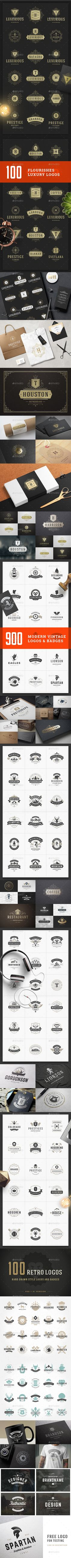 """Buy 1100 Logos and Badges Bundle by ProVectors on GraphicRiver. Massive bundle of 1100 Retro Vintage Logotypes and Badges. Please see """"screenshots"""" to view all logos Free logo for t. Wedding Badges, Wedding Labels, Camping Style, Camping Theme, Camping Party Decorations, Wedding Titles, Wedding Typography, Badge Template, Hand Drawn Logo"""