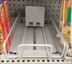 Fixed-Width Open Wire Tray Shelf Management and Merchandising